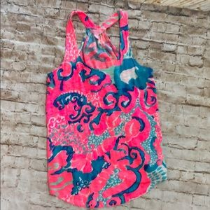 Lilly Pulitzer jellyfish tank racerback top preppy